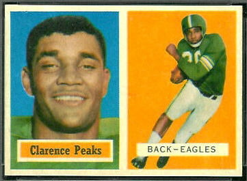 Clarence Peaks 1957 Topps football card