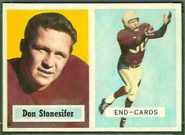 Don Stonesifer 1957 Topps football card