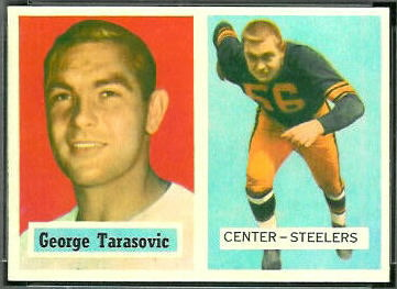 George Tarasovic 1957 Topps football card