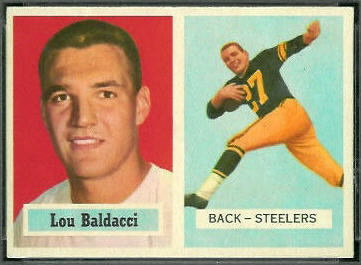 Lou Baldacci 1957 Topps football card