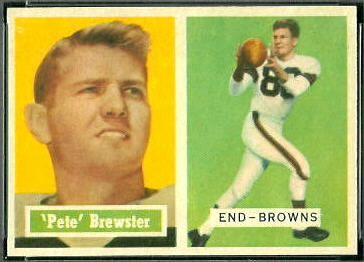 Pete Brewster 1957 Topps football card