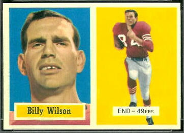 Billy Wilson 1957 Topps football card
