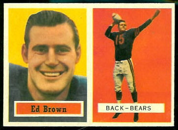 Ed Brown 1957 Topps football card