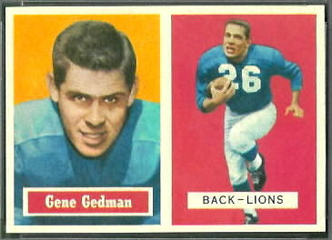 Gene Gedman 1957 Topps football card