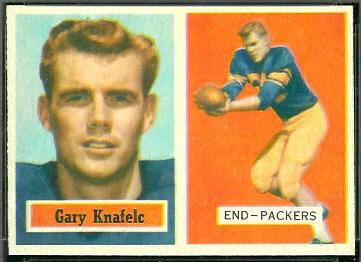 Gary Knafelc 1957 Topps football card