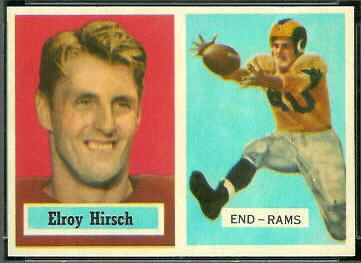 Elroy Hirsch 1957 Topps football card