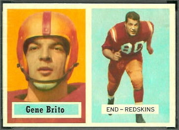 Gene Brito 1957 Topps football card