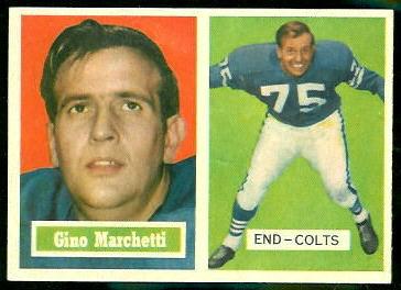 Gino Marchetti 1957 Topps football card