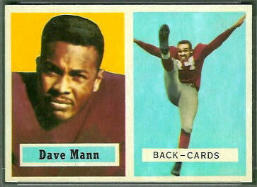 Dave Mann 1957 Topps football card