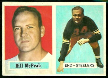 Bill McPeak 1957 Topps football card