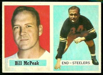Bill McPeak 1957 Topps football card