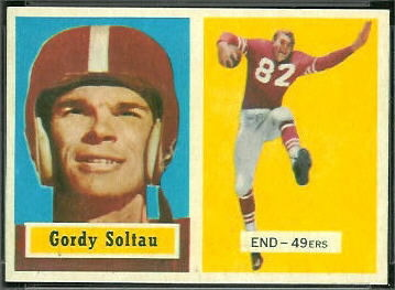 Gordon Soltau 1957 Topps football card