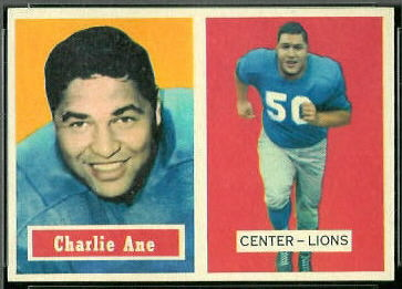 Charlie Ane 1957 Topps football card