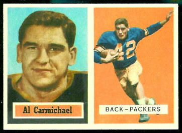 Al Carmichael 1957 Topps football card