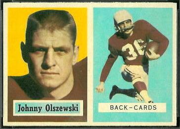 John Olszewski 1957 Topps football card