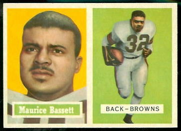Maurice Bassett 1957 Topps football card