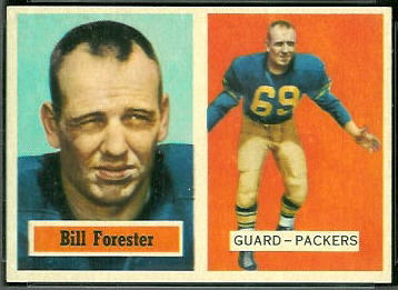 Bill Forester 1957 Topps football card