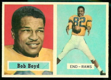 Bob Boyd 1957 Topps football card