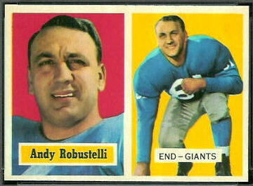 Andy Robustelli 1957 Topps football card