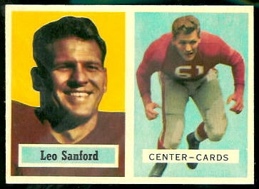 Leo Sanford 1957 Topps football card