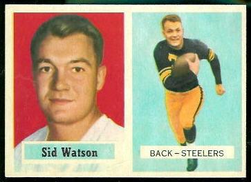 Sid Watson 1957 Topps football card