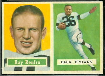 Ray Renfro 1957 Topps football card