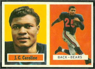 J.C. Caroline 1957 Topps football card