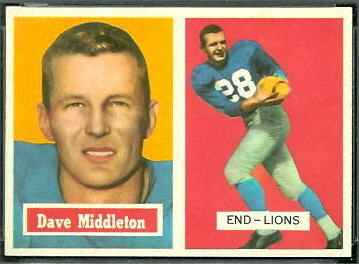 Dave Middleton 1957 Topps football card