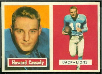 Howard Cassady 1957 Topps football card