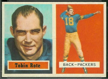 Tobin Rote 1957 Topps football card