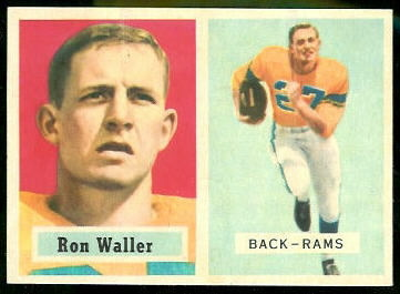 Ron Waller 1957 Topps football card