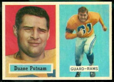 Duane Putnam 1957 Topps football card