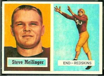 Steve Meilinger 1957 Topps football card