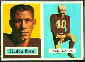 Lindon Crow 1957 Topps football card