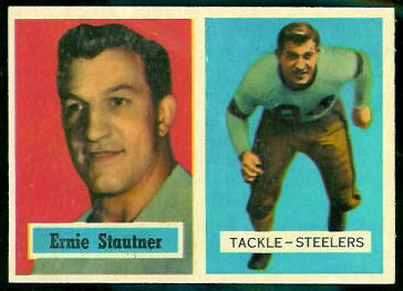 Ernie Stautner 1957 Topps football card