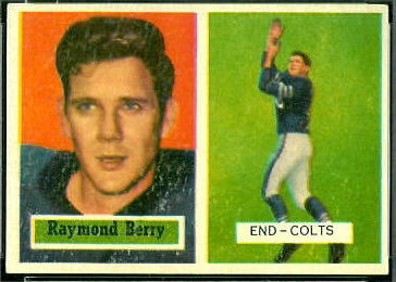 Raymond Berry 1957 Topps football card