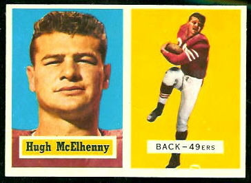 Hugh McElhenny 1957 Topps football card