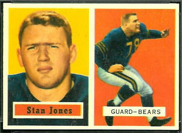 Stan Jones 1957 Topps football card