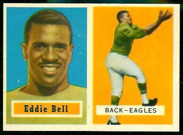 Eddie Bell 1957 Topps football card
