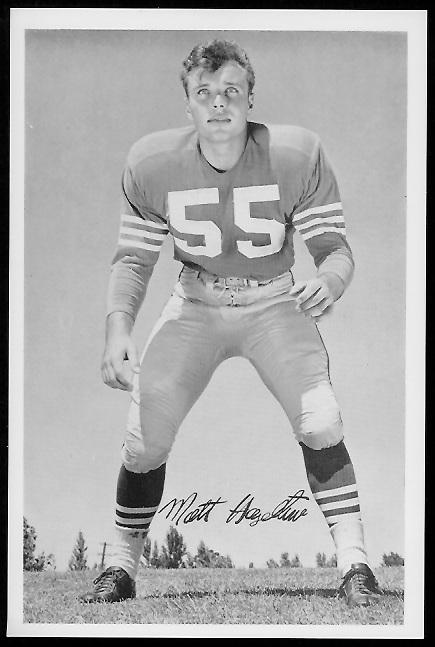 Matt Hazeltine 1958 49ers Team Issue football card