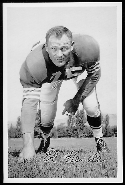 Ed Henke 1958 49ers Team Issue football card