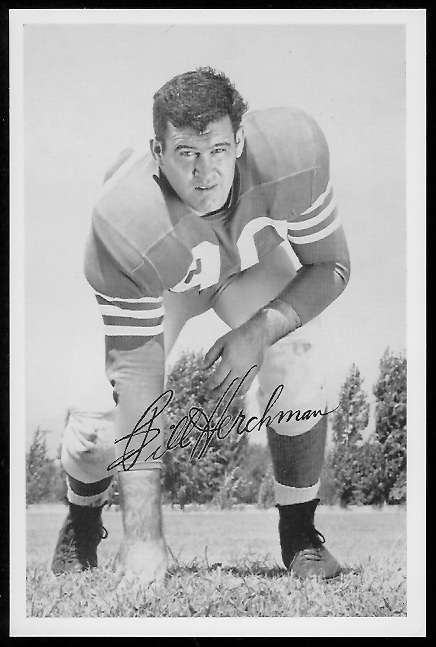 Bill Herchman 1958 49ers Team Issue football card