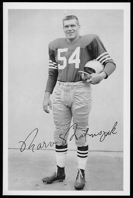 Marv Matuszak 1958 49ers Team Issue football card