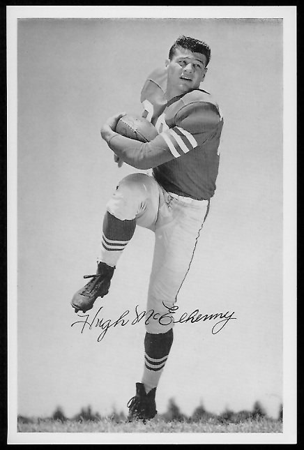 Hugh McElhenny 1958 49ers Team Issue football card