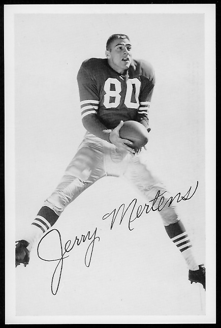 Jerry Mertens 1958 49ers Team Issue football card