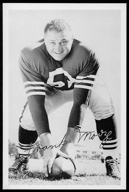 Frank Morze 1958 49ers Team Issue football card