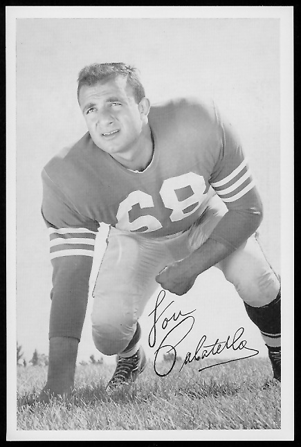 Lou Palatella 1958 49ers Team Issue football card