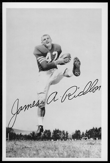 Jim Ridlon 1958 49ers Team Issue football card