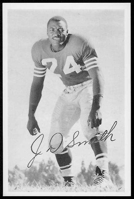 J.D. Smith 1958 49ers Team Issue football card