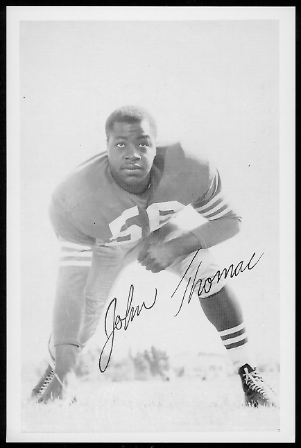 John Thomas 1958 49ers Team Issue football card